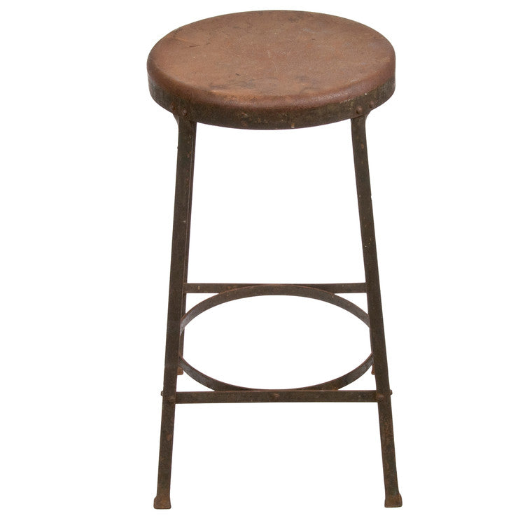Industrial Angle Iron Bar Stool