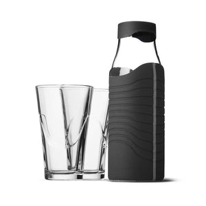 Carafe & Glass Set Black Gray
