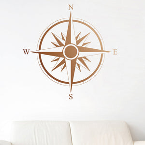 Compass Decal Copper