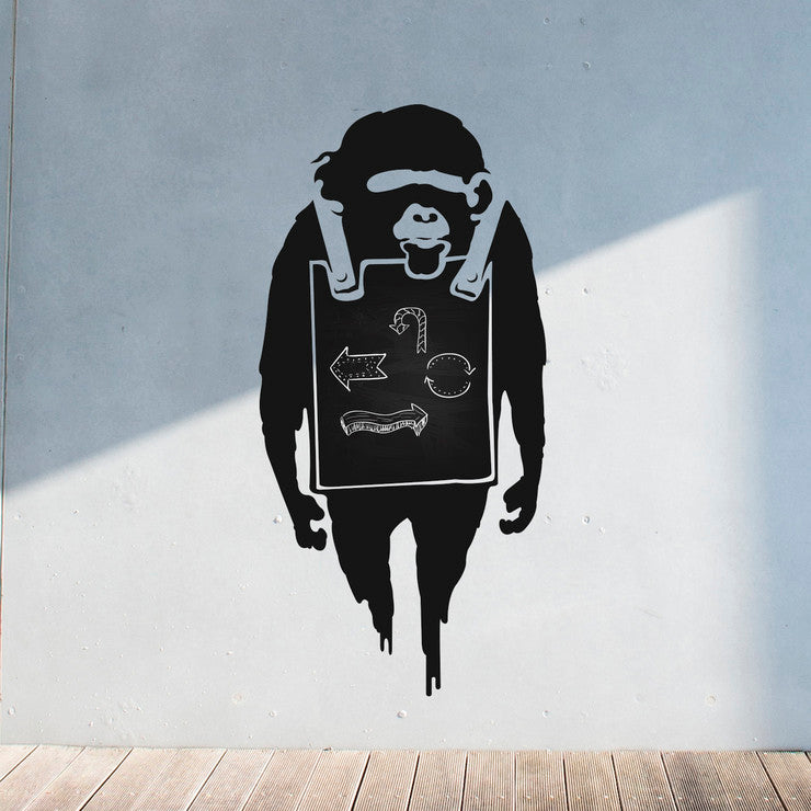 Banksy Sandwich Board Monkey