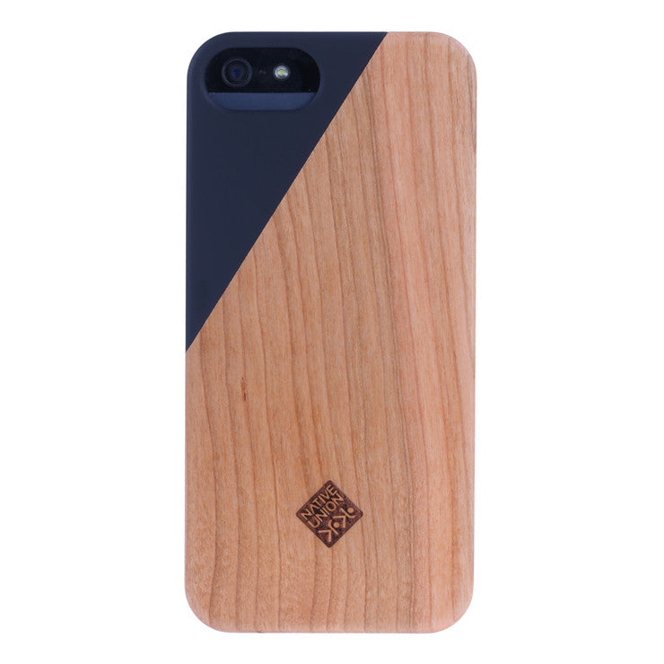 CLIC Wooden iPhone 5/5S Case Blk