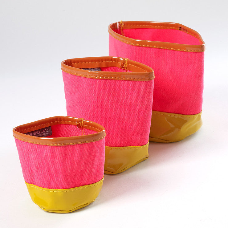 Canvas Planter Pink Set Of 3