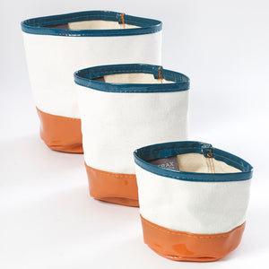 Canvas Planter Brown Set Of 3