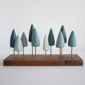 Blue Spruce Tabletop Forest