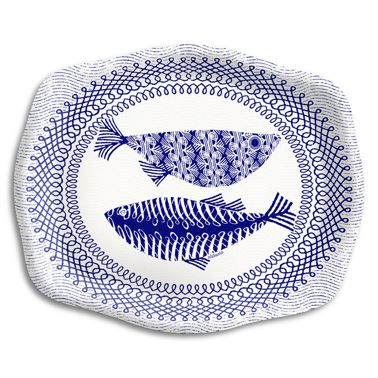 Blue Fish Tray 10.5\x7.75""""