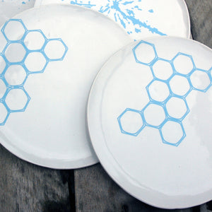Honeycomb 6\ Plate Blue""