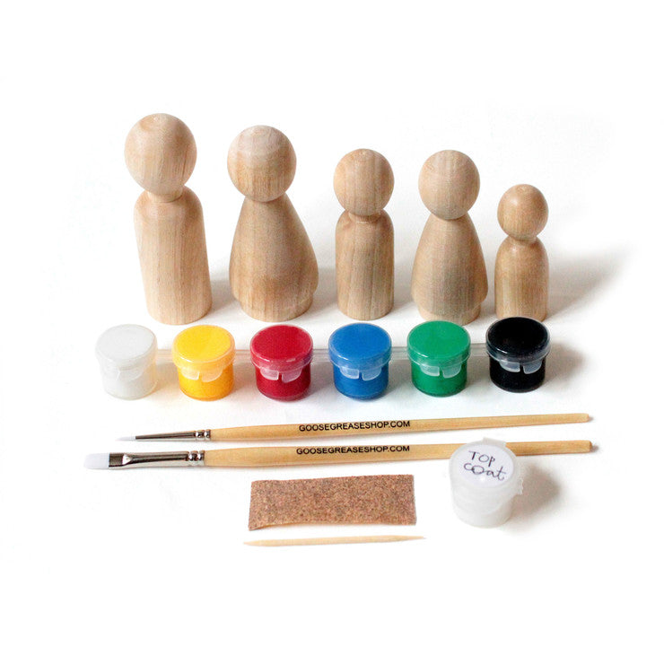DIY Peg Doll Craft Kit