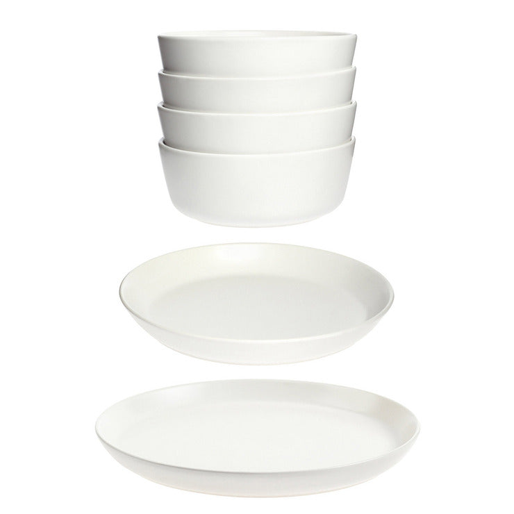 Bowl and Sm/Lg Plate Set for 4
