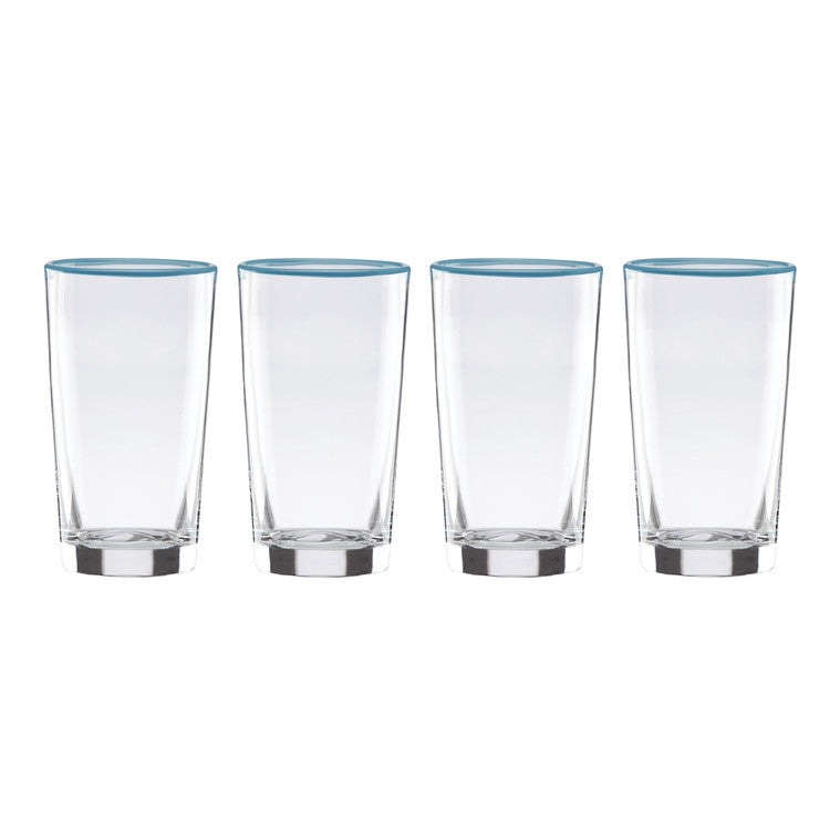 Highball Glasses Set Of 4 Blue
