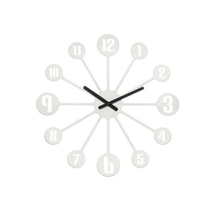 Pin Ball Clock Solid White