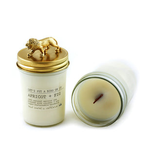 Lion Soy Candle Gold