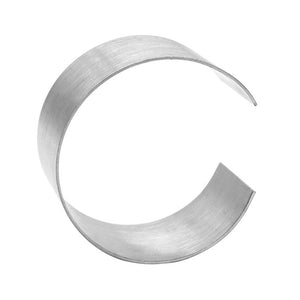Metal Letters Silver C 9""