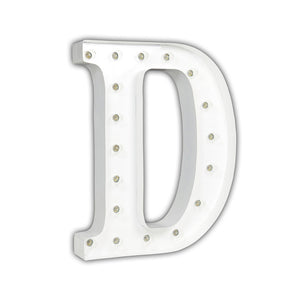 Vintage Marquee Light D White