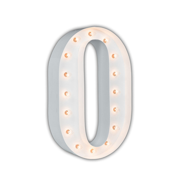 Vintage Marquee Light O White