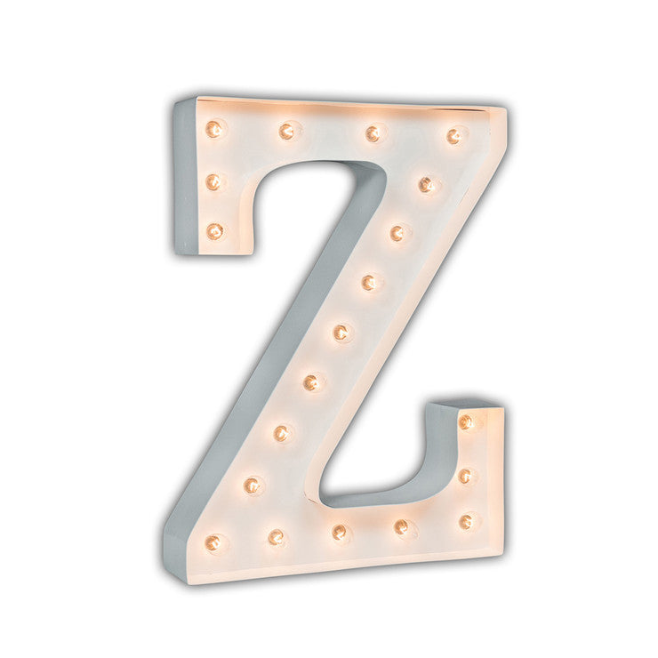 Vintage Marquee Light Z White
