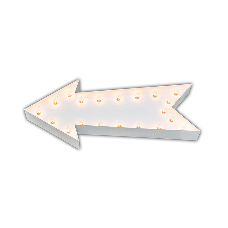 Vintage Marquee Arrow White