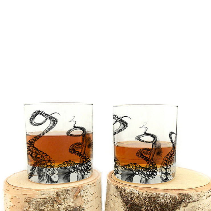 Octopus Whiskey Glass 4 Pack