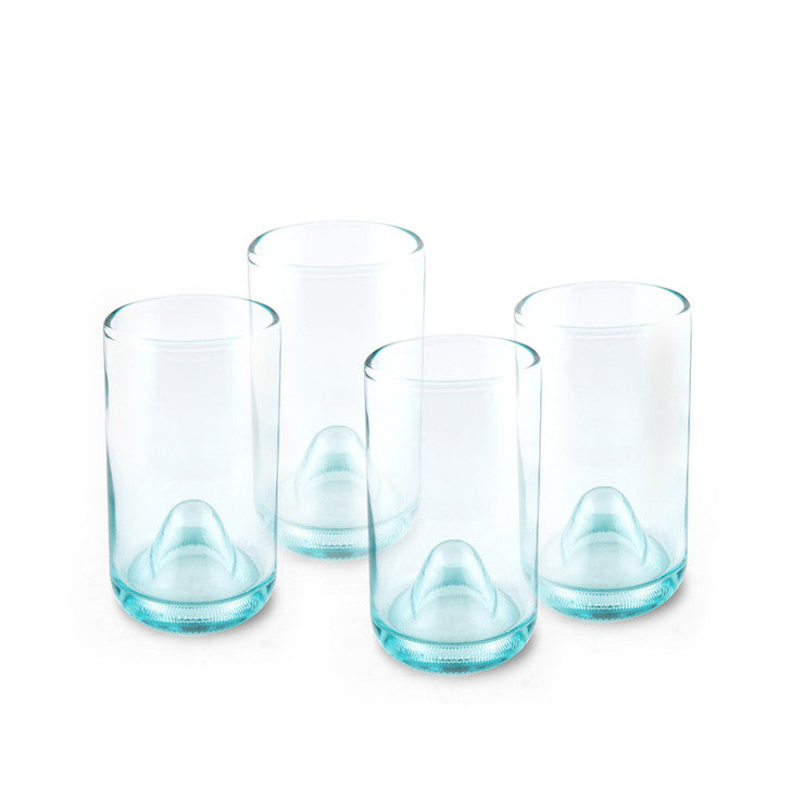 Punts 12 oz. Glasses Aqua Set