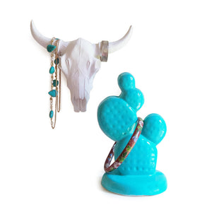 Horn & Cactus Jewelry Holder Set