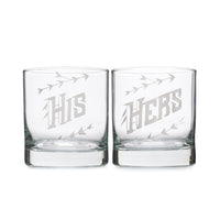 His & Hers Whiskey Glass Set