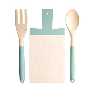 Cutting Board & Utensils Green