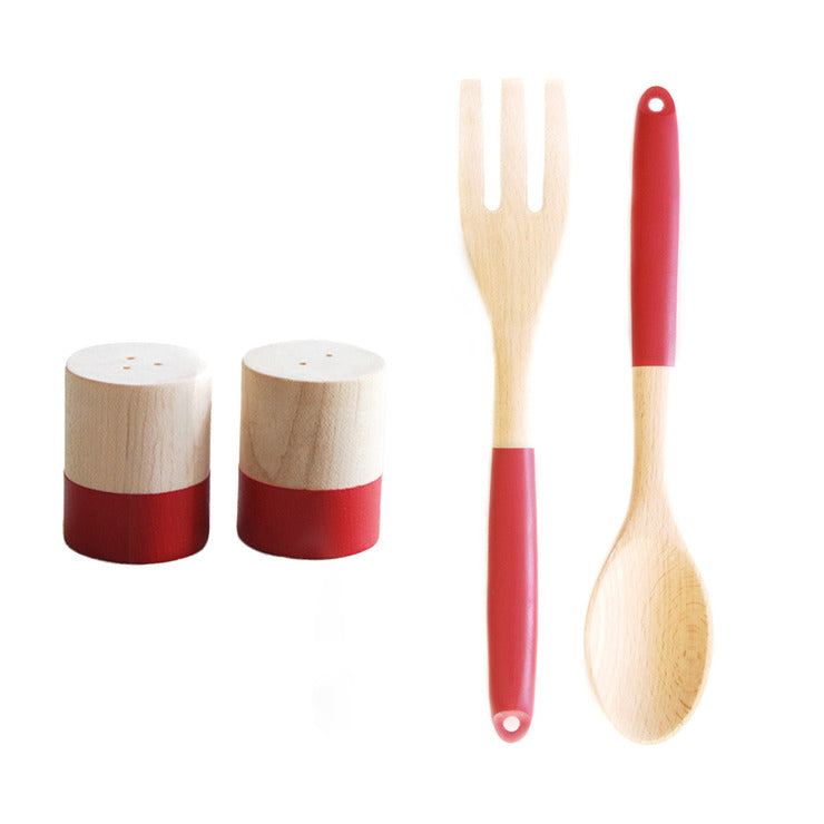 S&P Shakers & Utensils Red