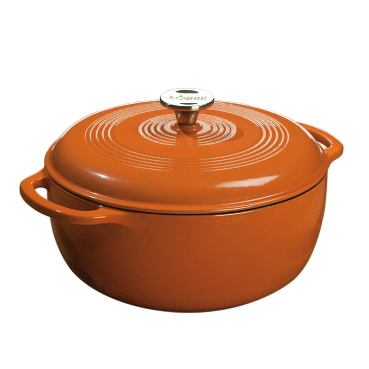 Enamel Dutch Oven 6 Quart Orange