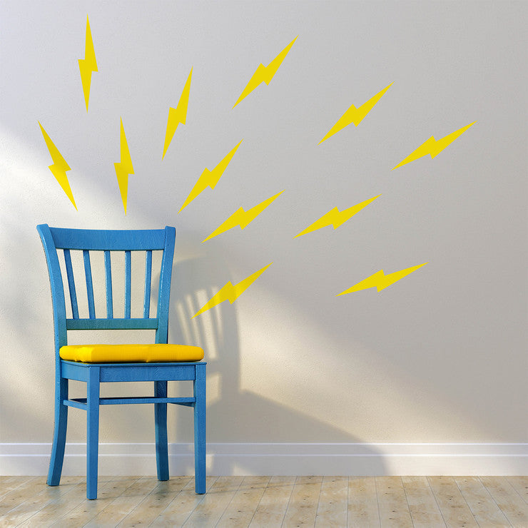 Lightning Decals 3 Pack Yellow