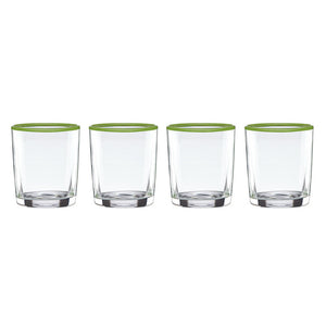 DOF Glasses Set Of 4 Green