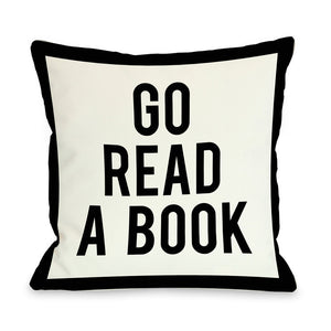 Go Read a Book Pillow