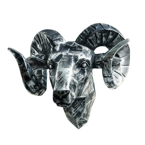 Ram Head Faux Taxidermy