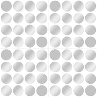 Silver Confetti Dot Wall Decals