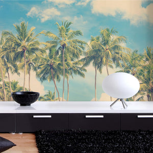 Vintage Summer Palms Wall Mural