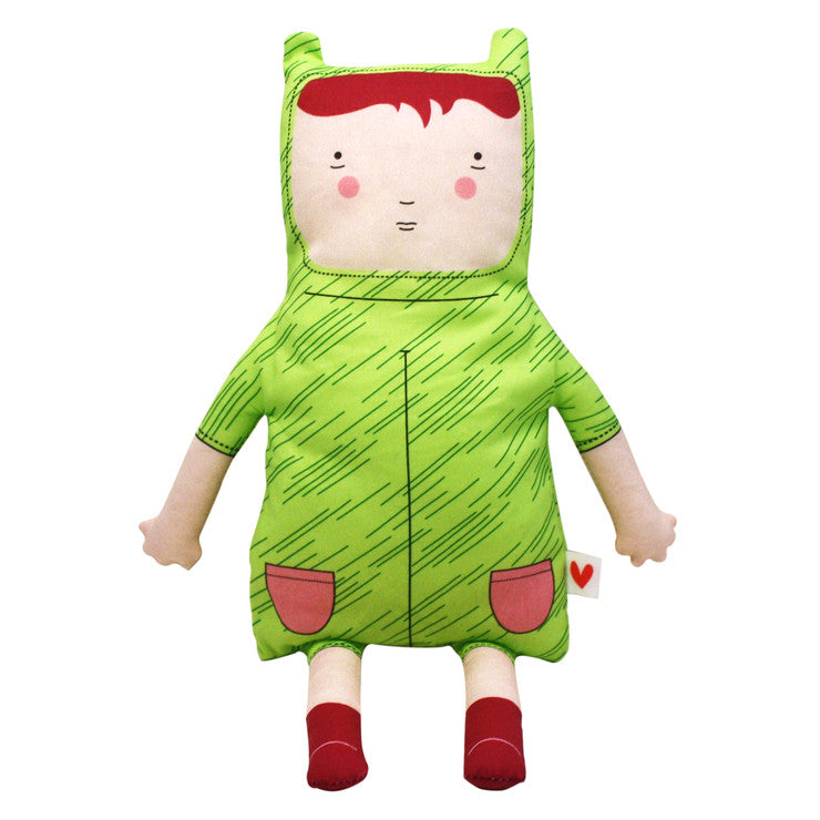 Lara Dark Plush Doll Green