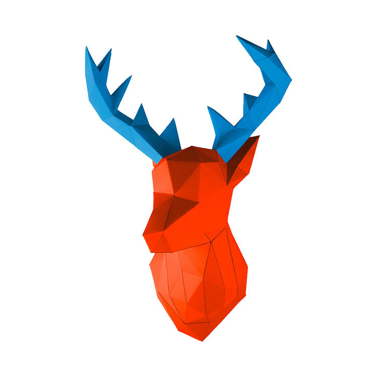 DIY Deer Taxidermy Orange Blue