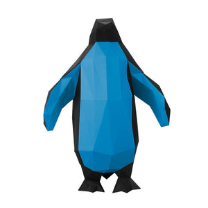DIY Penguin Sculpture Blue