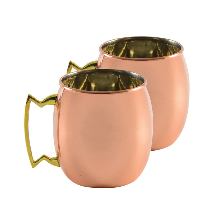 Copper Moscow Mule Mug Set Of 2