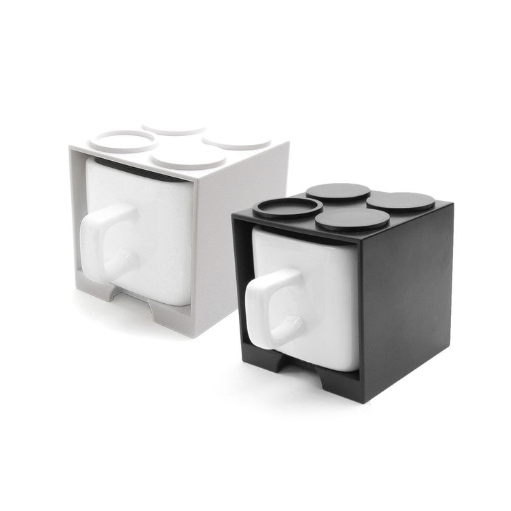 Cube Block Mugs Set Of Two
