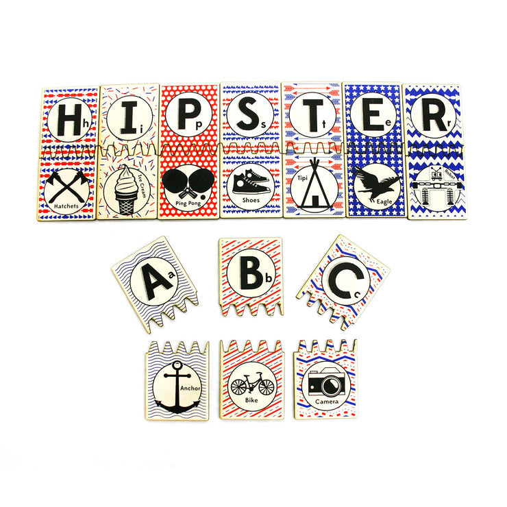 Hipster ABC Matching Title Set