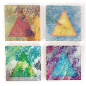 Birch Coasters Pastel Triangles