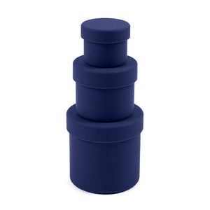 Squish Round Container Trio Navy