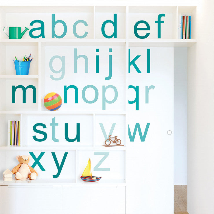 Ombre Alphabet Wall Decals