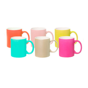 Pop Multi Ceramic Mugs Set Of 6
