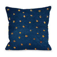 Blue And Gold Jenny Pillow