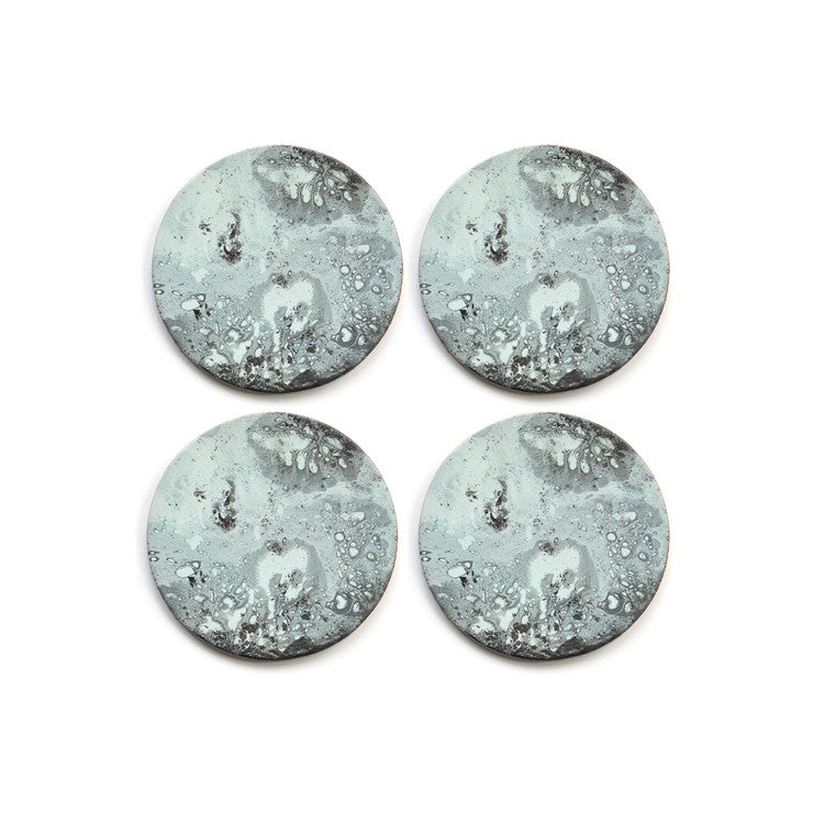 Leather Moon Coasters Set Of 4