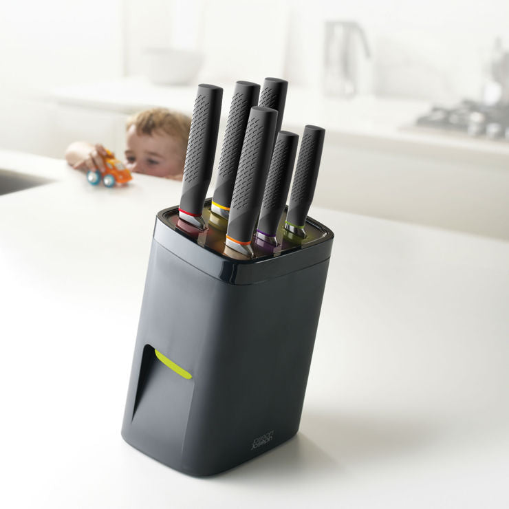 Lock Block 7 Pc Knife Block Set