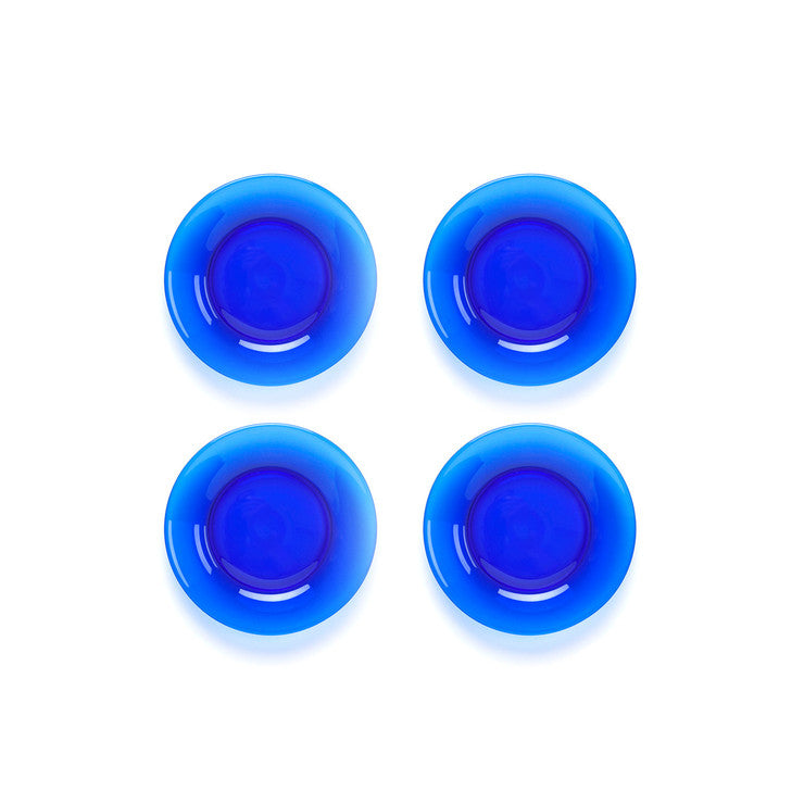 Appetizer Plate Set Of 4 Blue