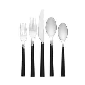 Flatware Set Black 20 PC
