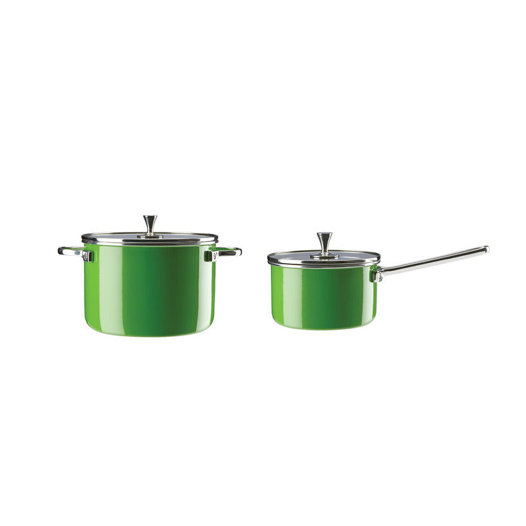 2 & 4 Quart Sauce Pans Green