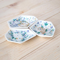 Small Geometric Ring Dish Trio
